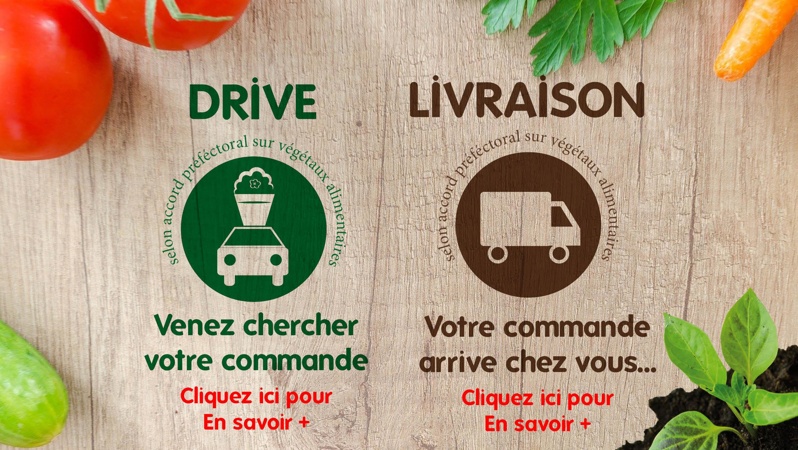 Service DRIVE & LIVRAISON